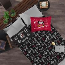 c8f2e50d00 Jogo de Cama Casal Disney 3 Peças Jadore Minnie Preto - Portallar