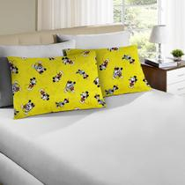 Jogo de Cama Casal Disney 3 Peças Mickey 90 Amarelo - Portallar -