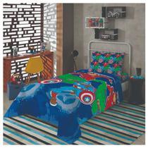 f3633451a7 Jogo De Cama Infantil Avengers 2 Peças Lençol Com Fronha - Lepper
