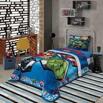 a2ab3f1444 Jogo de Cama Infantil Avengers Algodão Facil Lavar 150 fios Lepper
