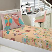 Jogo de cama Infantil Coruja Portal Joy c/ 02 pçs - Portallar