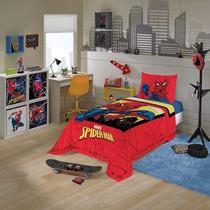 jogo de cama infantil spider man homem aranha 2 peças lepper -