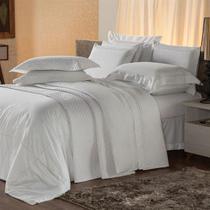 Jogo De Cama King Plumasul Premium Harmonious 4 Pçs Bordado Branco -