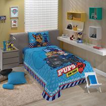 jogo de cama patrulha canina 2 peças lepper -