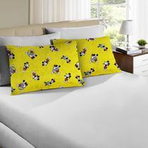 Jogo de Cama Queen Disney 3 Peças Mickey 90 Amarelo - Portallar -