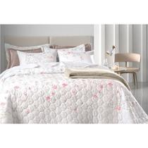 Jogo de cama queen floral 4 peças  botani karsten  percal 150 fios ultramacio com flores delicadas -