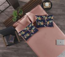 Jogo de cama simples casal de malha passion rosa antigo - niazi -