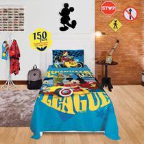 4564ebbb53 Jogo De Cama Solteiro Mickey Aventura Sobre Rodas 2 Peças Lepper -