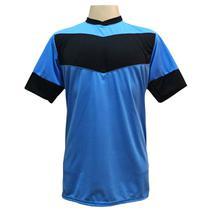 Jogo de Camisa com 18 unidades modelo Columbus Celeste/Preto + Brindes - Gazza