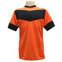 Jogo de Camisa com 18 unidades modelo Columbus Laranja/Preto + Brindes - Gazza