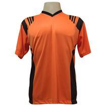 Jogo de Camisa com 18 unidades modelo Roma Laranja/Preto + Brindes - Play fair