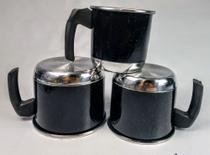 Jogo de Caneco de Alumínio com 3 Peças / Preto Pintadinho - Lu Quintães