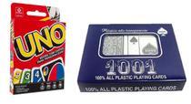 Jogo de Cartas UNO + Baralho Duplo Copag 1001 - Combo
