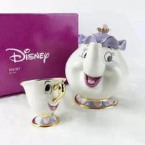 Jogo De Chá Porcelana A Bela E Fera Disney Original -