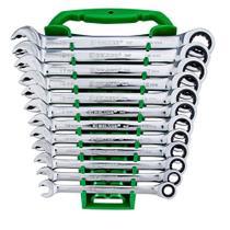 Jogo de chave combinada com catraca 8 a 19 mm 12 peças - Speed - Belzer -
