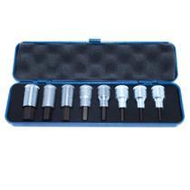 Jogo de Chave Soquete Hexagonal 1/2 pol - 4 a 17mm - 8 Peças - Ref: 16.201 - GEDORE -