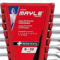 Jogo de Chaves Combinadas 6 a 22 mm com 12 Peças - MAYLE -102405MY -