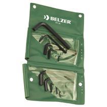 Jogo de Chaves Hexagonal Curta 4 a 14 mm 10 peças Belzer 220401BR -