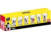 Jogo de Copos de Vidro 190ml 6 Peças Nadir - Disney Linha do Tempo Mickey 90 Anos -