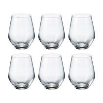 Jogo de copos em cristal Bohemia Michele 350ml 6 peças -