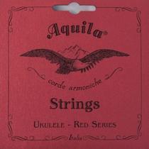 Jogo de corda Para Ukulele Soprano High G Aquila Red Series -