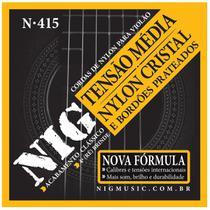 Jogo De Cordas Nig Para Violão Nylon Tensão Média N-415 -