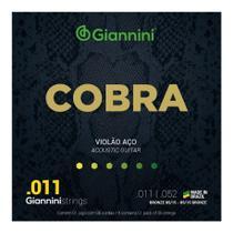 Jogo de Cordas para Violão Aço 011 Giannini Cobra Bronze GEEFLK -