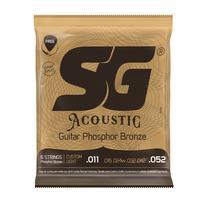 Jogo De Cordas Violão Aço SG 011 Fósforo Bronze 6691 + Kit de Acessórios IZ6 -