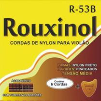 Jogo De Cordas Violão Nylon Nailon Tensão Media C/ Tubetes - Rouxinol
