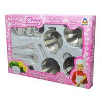 Jogo De Cozinha Brinquedo Infantil Inox Menina Lucy Braskit -