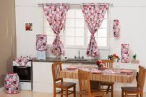 Jogo de Cozinha Helena Kit Com 09 Peças - Vermelho - Florenza Enxovais