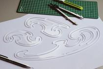 Jogo de curvas francesas gabarito mod. D-14 acrílico transparente- Fenix -