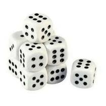 Jogo De Dados 16 Mm - Euclides Jordão - 10 Unidades -