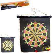 Jogo de dardos com alvo dupla face + 6 dardos magnetico 43x37cm na caixa - Wellmix