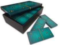 Jogo De Dominó Grande Didático Educativo 28 Peças - Azul - Formalivre