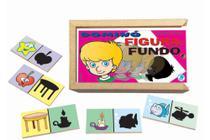 Jogo de Dominó Infantil Figura - Fundo - Simque -
