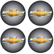 Jogo de Emblemas Resinados 48mm Chevrolet GM Para Calotas Rodas- Botom 4 Peças -