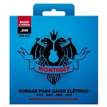 Jogo De Encordoamento P/ Baixo 4 Cordas 040 Monterey by Solez -