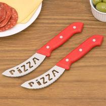 Jogo De Facas Pizza 2 Peças Vermelho - Lumina -