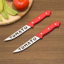Jogo De Facas Tomate 2 Peças Vermelho - Lumina -