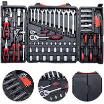 Jogo de ferramentas com maleta dobrável 121 peças - FM-02 - Mondial -