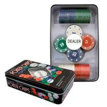 Jogo De Fichas De Poker Na Lata 100 Peças - Imporiente -