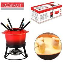 Jogo de fondue de ceramica aretha com 6 garfos / panela / separador / suporte hauskraft 1l - Haüskraft