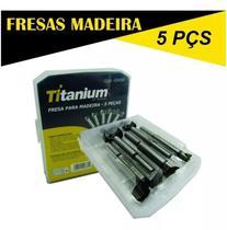 Jogo de Fresas para Madeira com 5 Peças TITANIUM-05458 -
