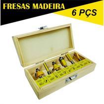 Jogo de Fresas para Madeira com 6 Peças TITANIUM-05459 -