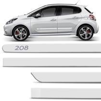 Jogo De Friso Lateral Peugeot 208 2013 A 2017 Branco Nacre Cor Original Grafia Dupla Face - Zp