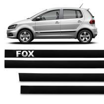 Jogo de Friso Lateral Tipo Borrachão Fox 2003 a 2018 Preto 4 Portas Grafia Alto Relevo - Sanfil