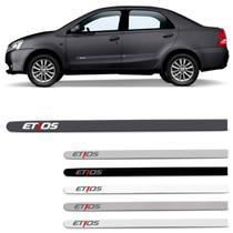 Jogo De Friso Lateral Toyota Etios 2012 2013 2014 2015 2016 2017 2018 2019 2020 PCD - Zp
