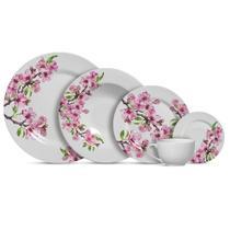 Jogo de jantar cerejeira decorado c/20 peças primeira linha - Alleanza Cerâmica