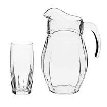 Jogo de jarra com copos em vidro Pasabahce Dance 7 peças -
